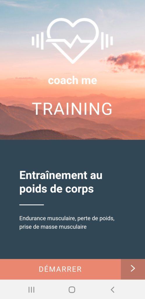 Coach Me Apps : entraînement individuel