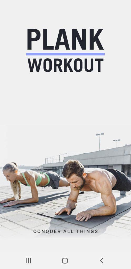 Plank Workout : entraînement individuel