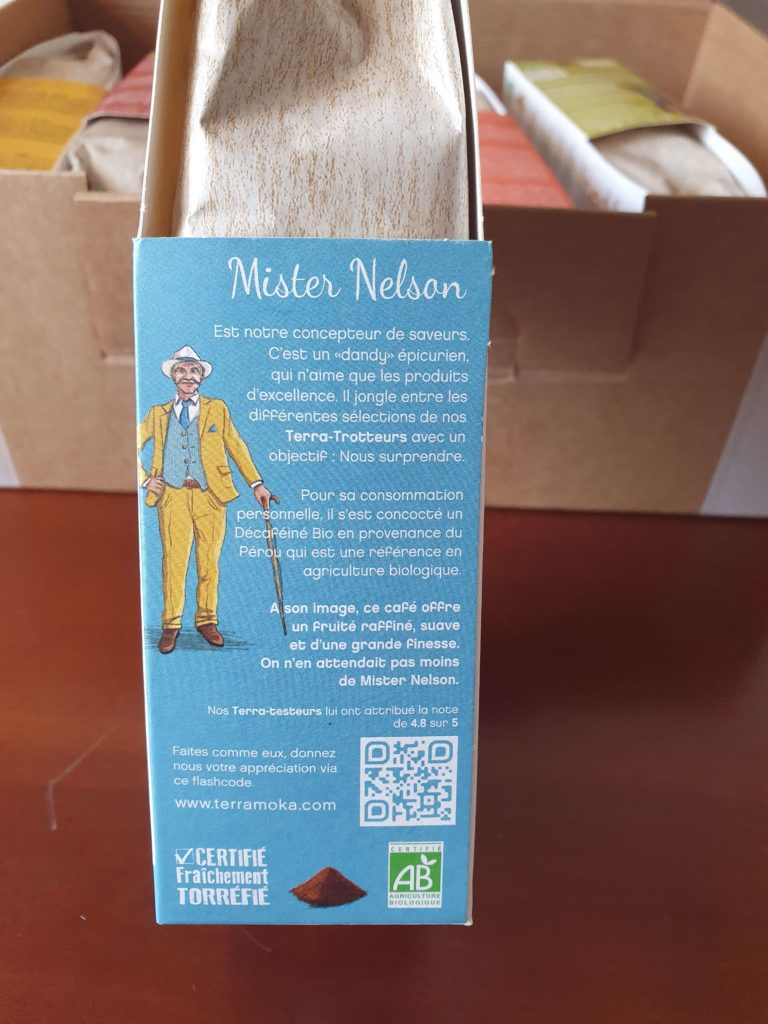 Terramoka packaging de Mister Nelson.